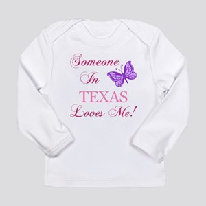 Texas State (Butterfly) Long Sleeve Infant T-Shirt