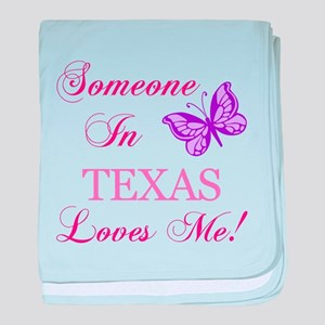 Texas State (Butterfly) baby blanket