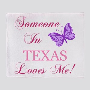 Texas State (Butterfly) Throw Blanket