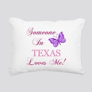 Texas State (Butterfly) Rectangular Canvas Pillow