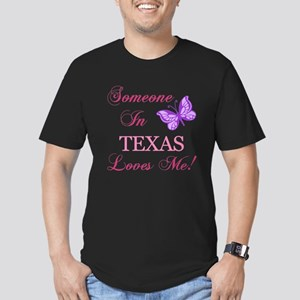 Texas State (Butterfly) Men's Fitted T-Shirt (dark