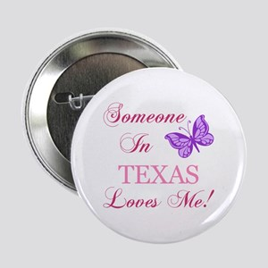 "Texas State (Butterfly) 2.25"" Button"