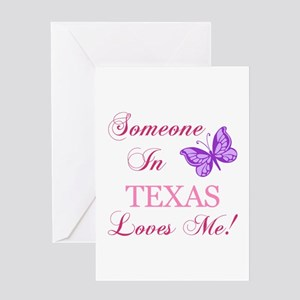 Somebody in texas loves me greeting cards cafepress texas state butterfly greeting card m4hsunfo