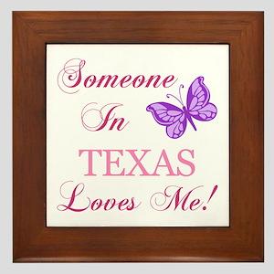 Texas State (Butterfly) Framed Tile