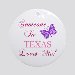 Texas State (Butterfly) Ornament (Round)