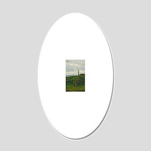 Oban, Scotland 20x12 Oval Wall Decal