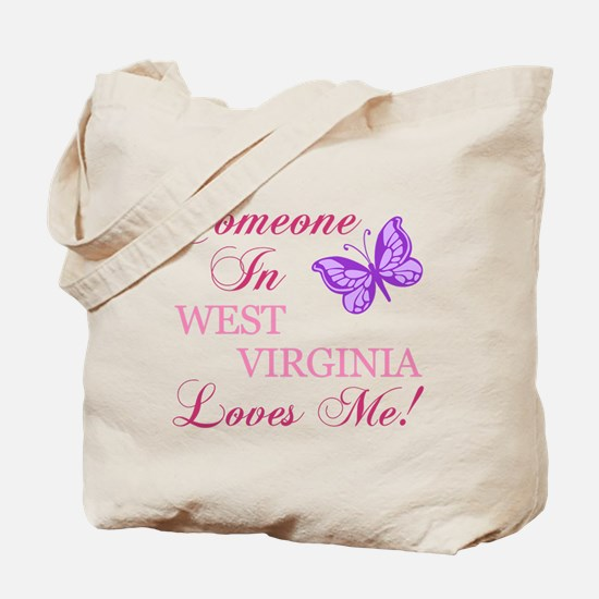 West Virginia State (Butterfly) Tote Bag