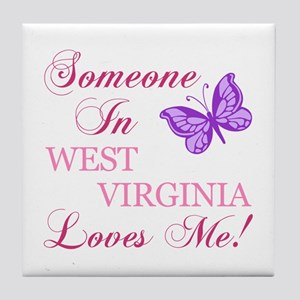 West Virginia State (Butterfly) Tile Coaster