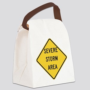 Severe Storm Area Canvas Lunch Bag