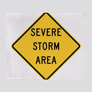 Severe Storm Area Throw Blanket