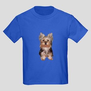 Yorkshire Terrier Puppy Kids Dark T-Shirt