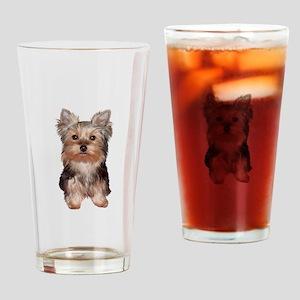 Yorkshire Terrier Puppy Drinking Glass