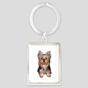 Yorkshire Terrier Puppy Portrait Keychain