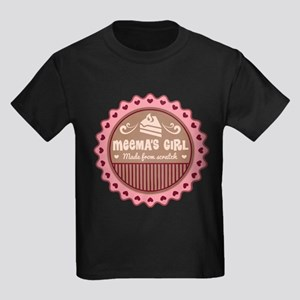 Meema's Girl Made From Scratch Kids Dark T-Shirt