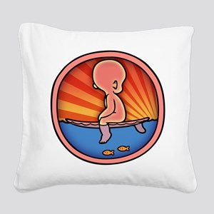 surf-womb-2-T Square Canvas Pillow