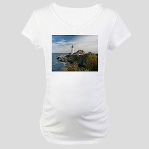 Portland Head Light Maternity T-Shirt