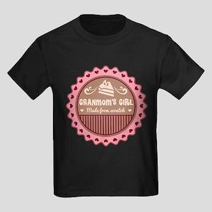 Granmom's Girl Made From Scratch Kids Dark T-Shirt