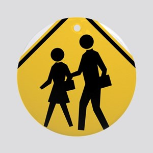 School Zone Ornament (Round)