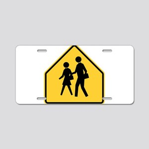 School Zone Aluminum License Plate