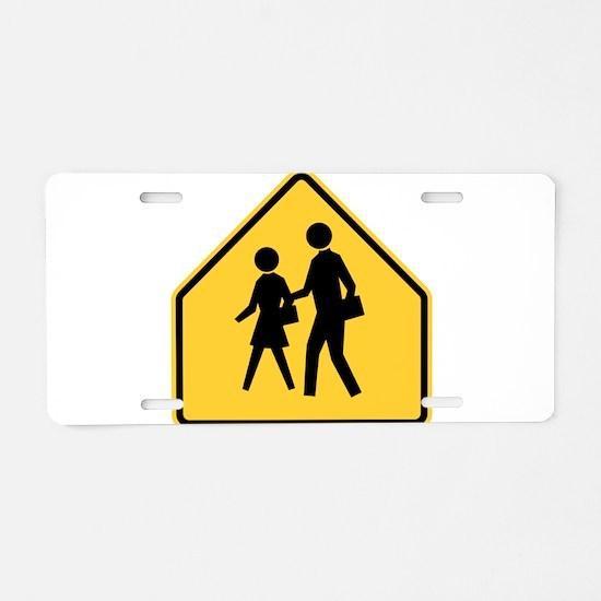 School Zone Aluminum License Plate
