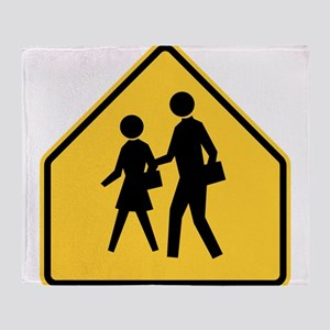 School Zone Throw Blanket