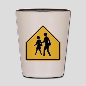 School Zone Shot Glass