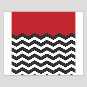 Red Black and white Chevron Poster Design