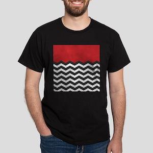 Red Black and white Chevron T-Shirt