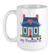 Poodle Lovers Gifts Large Mug