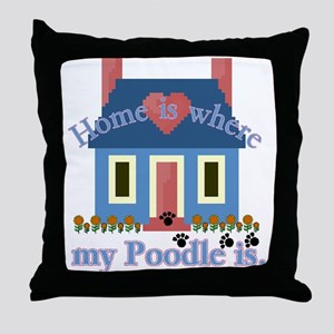 Poodle Lovers Gifts Throw Pillow