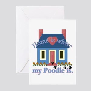 Poodle Lovers Gifts Greeting Cards (Pk of 10)