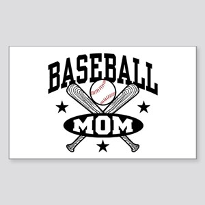 Baseball Mom Sticker (Rectangle)