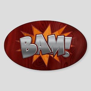 Inlay Bam! Sticker (Oval)