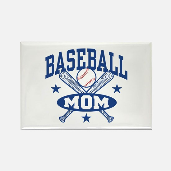 Baseball Mom Rectangle Magnet