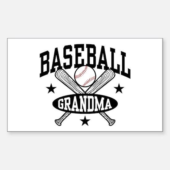 Baseball Grandma Sticker (Rectangle)