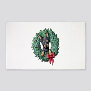 Dobie Christmas Wreath 3'x5' Area Rug