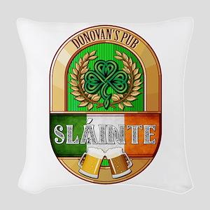 Donovan's Irish Pub Woven Throw Pillow