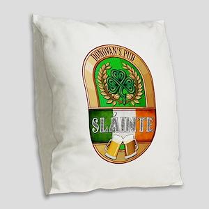Donovan's Irish Pub Burlap Throw Pillow