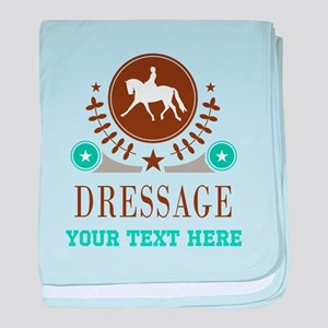 Dressage Personalized baby blanket