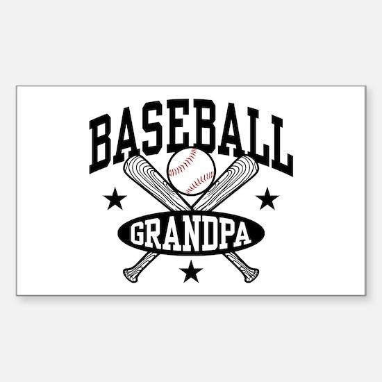 Baseball Grandpa Sticker (Rectangle)