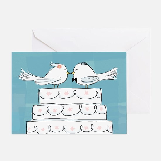 Love Birds Wedding Congratulations Card