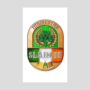 Fitzgerald's Irish Pub Sticker (Rectangle)