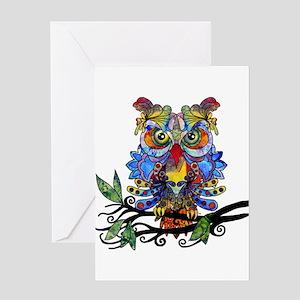 wild owl Greeting Cards