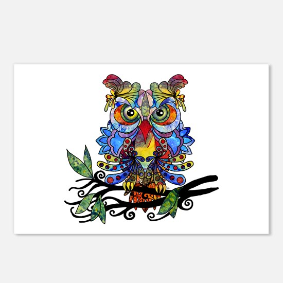 wild owl Postcards (Package of 8)