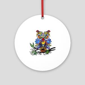 wild owl Ornament (Round)