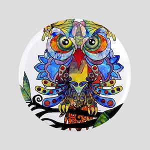 """wild owl 3.5"""" Button"""