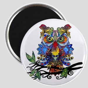 wild owl Magnets