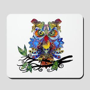 wild owl Mousepad