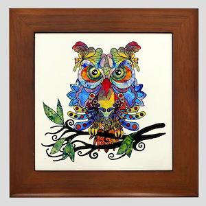 wild owl Framed Tile