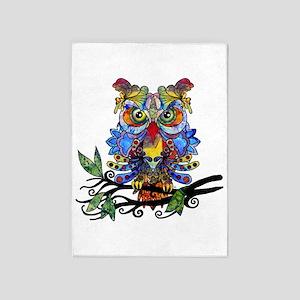 wild owl 5'x7'Area Rug